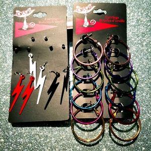 2/$20 brand new 12 pairs earrings